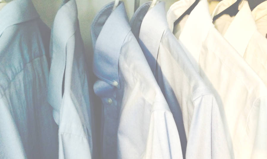 cpa uniform-blue and white shirts