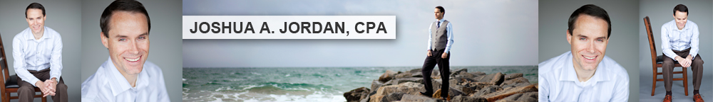 Pictures of Joshua Jordan, a CPA in Bend, Oregon.