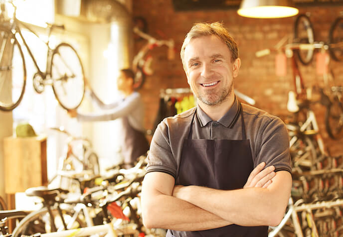Small Business Owner in Bike Shop
